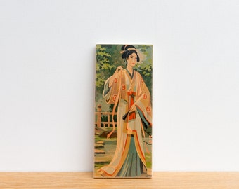 Paint by Number Art Block 'Geisha Girl' - asian art, japan, geisha, japanese geisha, vintage art