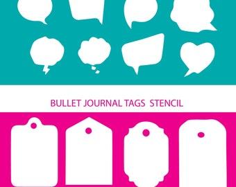 Planner or bullet journal stencils