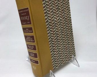 Book Letter Handmade Vintage Condensed Readers Digest Upcycled Brown C0045