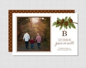 Monogram Woodlands Photo Christmas Card