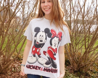 Vintage Mickey And Minnie Mouse Tee