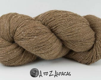 Lace Weight - Khaki - Alpaca Yarn - Made in Canada
