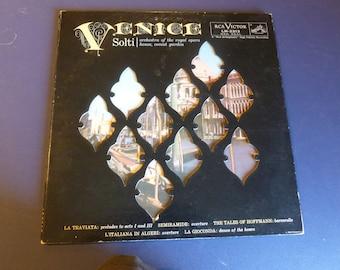 Venice Solti RCA Victor LM-2313 Rare Vinyl Record England Recording