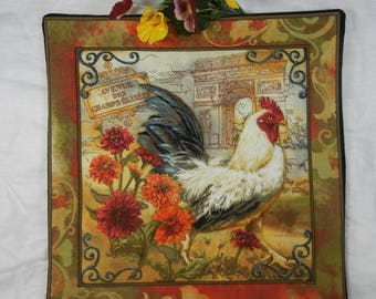 Quilted Trivet - French Rooster Set #1