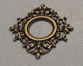 LuxeOrnaments Oxidized Brass Pendant 14mm Setting 37x34mm (1 pc) F-A14045-B