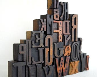 A to Z - Vintage Letterpress Wood Type Collection -VG06