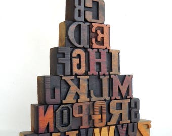 A to Z - Vintage Letterpress Wood Type Collection -VG07