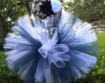Penn State Baby Tutu Navy and White with Flower Headband - Dallas Cowboys Baby Tutu Set