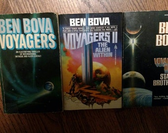 Ben Bova Voyagers Trilogy ~ Sci Fi ~ 3 Book Set ~ Voyagers I II and III