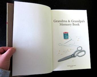 Individual Grandparent Memory Book (Journal and Album)