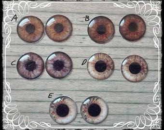 BROWN EYE CHIPS for Blythe dolls by Antique Shop Dolls