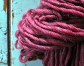 Big Yarn, Handspun, Super Bulky, Thick n Thin, Red, Pinkish Red, Watermelon Red, Hand Dyed, Wool, Knitting, Crochet Supplies, Yospun