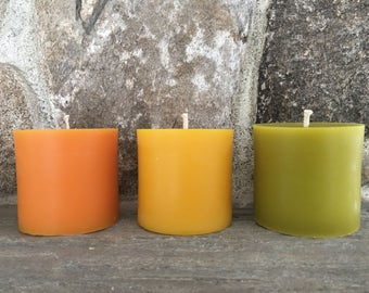 "Pure Beeswax Pillar Candle 3""x3"""