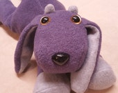 """PURPLE EASTER GOAT-15"""" Laying Plush Happy Goat-by Happy Goat"""