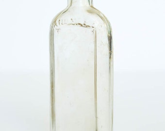 Vintage Glass Bottle, Hand Med Co. Philadelphia, 1915-1929, Vintage Medicine Bottle, Vintage Apothecary Bottle