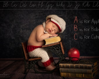 Baby Boy, Original, Little Man Set, Newborn Shorts, Bow Tie and Golfers Hat, Bringing Baby Home Outfit, Babies First Photos