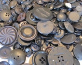 Jar of Buttons - Black Color - Vintage and New Mixed (1)