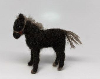 needle felted pony