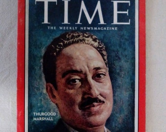 Collectible Time Magazine September 19, 1955 Thurgood Marshall Cover Very Good Condition Great Ads