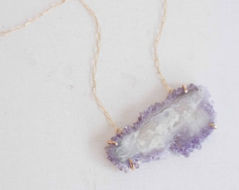 Light Purple Amethyst Necklace | 14k Gold Fill | One of a Kind