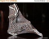 HOLIDAY SALE Textile Stamp, Wood Block Stamp, Tjaps, Indian Wood Stamp, Pottery Stamp, Hand Carved- Zentangle Deer