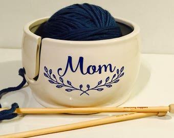 Personalized Yarn Bowl | Gift for Mom | Yarn Bowl | Custom Yarn Bowl | Pottery and Ceramics handmade in my Charleston, SC Studio