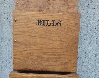 SALE/Mail Sorter/Bill Holder/Office Organization/Key Holder/Jewelry Holder/Home Decor/ Vintage