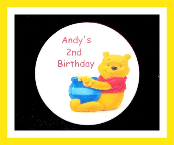 Birthday Party Favor Personalized Button, Cartoon Pin Favor,School Favor,Kid Party Favor,Boy Birthday,Girl BirthdayPin,Favor Tag Set of 10