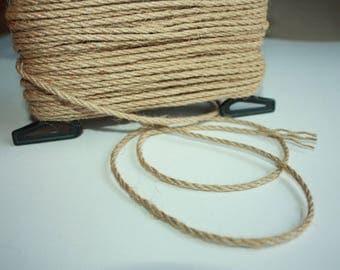 3 mm Jute Cord Natural = 1 Spool = 37 Yards = 33.83 Meters Jute Rope - christmas decorations - burlap stocking - rustic weddings
