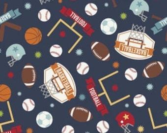 Game Day, Sports, Navy, Riley Blake Designs, 1/2 Yard