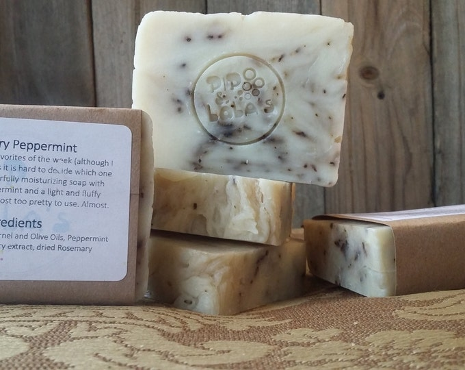 Rosemary Peppermint Back to Basics Soap - Rosemary soap, peppermint soap, natural soap, essential oil soap, spa soap, spa gift, soap