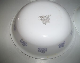 Set of 4  Forget Me Nots Corelle BerryBowls