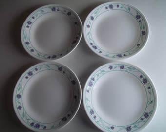 "4 Simply Spring Bread Plates 6 3/4"", Made in the USA"