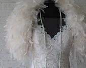Feather cape stole wrap bridal jacket wedding dress accessories shrug bolero
