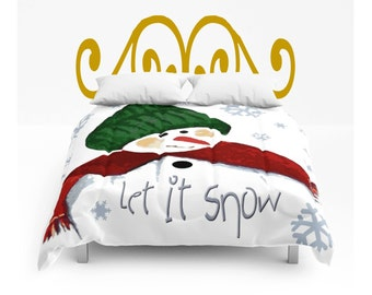 snowman bedding | etsy