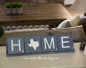 Handmade Large Scrabble Tile. Home Scrabble Tiles. Christmas Gift. Home Decor. Scrabble. Rustic Home Decor. Wood Sign.