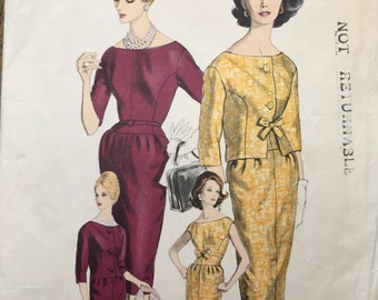 Vogue Paris Original  1011 1960s Patou dress and jacket Bust 34