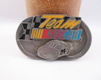 Team NASCAR Belt Buckle Car 04. Auto Racing.  Free US Shipping - FL