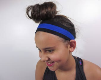 thin blue line headband police support. law enforcement. LEOW. one size fits all. order up to set of 20 and save.