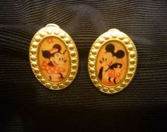 Vintage MICKEY and MINNIE MOUSE Earrings