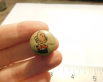 1940's Cartoon Pinback Button From Kelloggs Pep Cereal Shadow Dr27