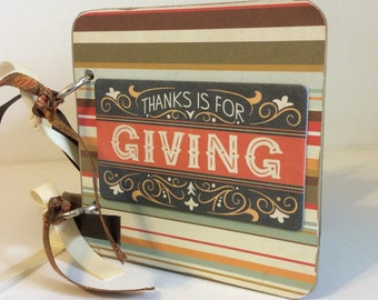 Fall Family scrapbook premade pages mini album brag book Thanksgiving