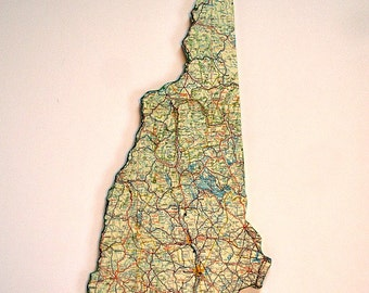 NEW HAMPSHIRE State Map Wall Decor | Vintage Map | Perfect Gift for Any Occasion | Medium Size