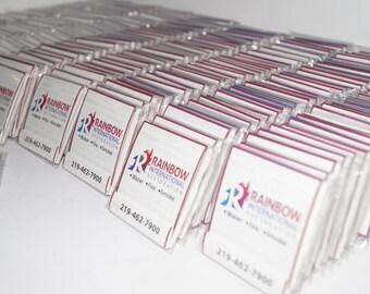 Marketing promotional gifts, logo Branded Nail File Matchbook, Business Marketing Ideas, Business Branded . Set of 100