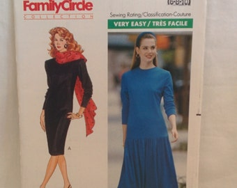 Vintage Butterick Pattern #4296  The Family Circle Collection Fast & Easy Misses/Misses Petite Dress  Sizes 6 8 10 Epsteam
