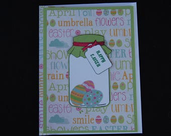 Easter Jar of Eggs - Blank Card and Coordinating Envelope