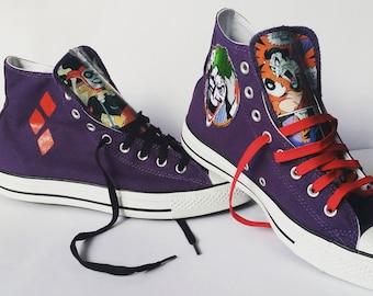 Joker Harley Quinn Converse Sneakers Mad Love Special