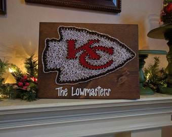 Kansas city chiefs String Art with name