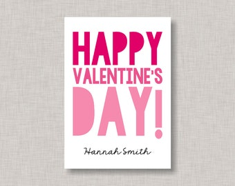 Valentine Classroom Card, Minimalist Valentine Card, Classroom Valentine Card, Minimalist Valentines, Kids Valentine Cards, Kids Valentines