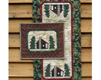 Quilt Pattern 2, Table Runner Quilt Pattern, Cabin Quilt Pattern, Pine Tree Quilt Pattern , Wall Hanging Pattern, Wall Art, PATTERN ONLY